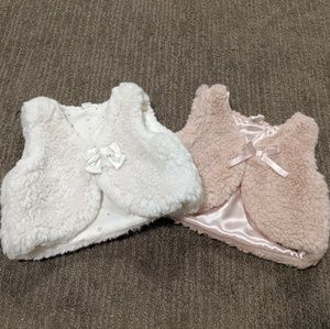 H&M 2 set of Baby Girl Faux Fur Vest